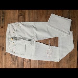 7 for all mankind skinny jean in mint